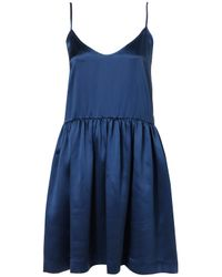 TOPSHOP | Blue Satin Skater Slip Dress By Boutique | Lyst