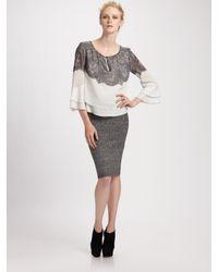 BCBGMAXAZRIA | Black Scarlett Stretchy Bandage Skirt | Lyst