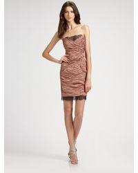 BCBGMAXAZRIA | Pink Strapless Rachael Dress | Lyst