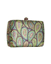 FORZIERI - Multicolor Crystal Jeweled Evening Hard Clutch W/chain Strap - Lyst