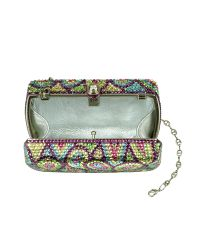 FORZIERI | Multicolor Crystal Jeweled Evening Hard Clutch W/chain Strap | Lyst