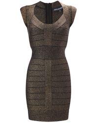 French Connection | Black Dani Crepe Bandage Dress | Lyst