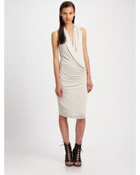 Helmut Lang | White Stretch Crêpe Dress | Lyst