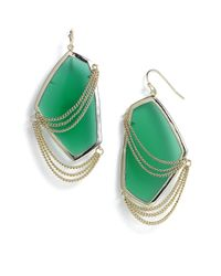 Kendra Scott | Green Kavita Chain & Stone Statement Earrings | Lyst