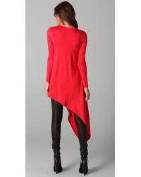LNA - Red Asymmetrical Tunic - Lyst