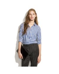 Madewell - Blue Checkwave Ex-boyfriend Shirt - Lyst