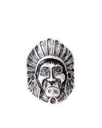 River Island - Metallic Navajo Ring for Men - Lyst