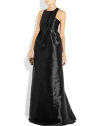 Theyskens' Theory - Black Button-front Matte-satin Gown - Lyst