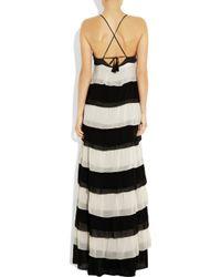 By Malene Birger | Black Andriani Tiered Chiffon Maxi Dress | Lyst