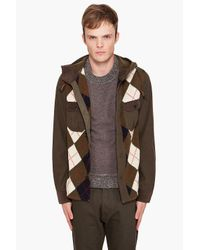 Junya Watanabe | Green Hooded Sweater for Men | Lyst