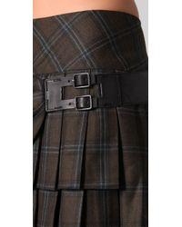 L.A.M.B. - Green Short Plaid Kilt Skirt - Lyst