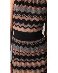 M Missoni - Black Zigzag Metallic Stripe Maxi Dress - Lyst