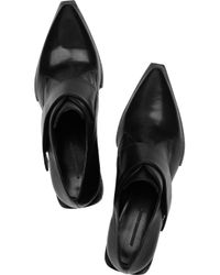 Alexander Wang | Black Ines Oxford Glazed-leather Brogues | Lyst