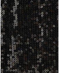 ASOS Collection | Pink Asos Petite Exclusive Sequin Drape Bandeau Mini Dress | Lyst