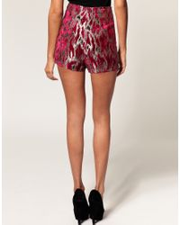 ASOS Collection - Multicolor Asos Hotpant in Luxe Metallic Animal Print - Lyst