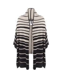 BCBGMAXAZRIA | Black Gaby Striped Cardigan | Lyst