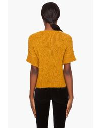 Carven | Yellow Short Sleeve Sweater | Lyst