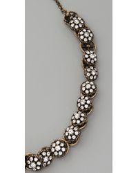 Club Monaco - White Vintage Button Necklace - Lyst