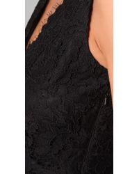 DKNY | Black Lace Dress with Scalloped Hem | Lyst