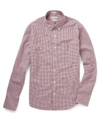 J.Crew - Red Thomas Mason Gingham Check Shirt for Men - Lyst