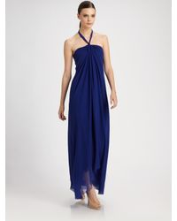 Jean Paul Gaultier | Blue Tulle Halter Dress | Lyst