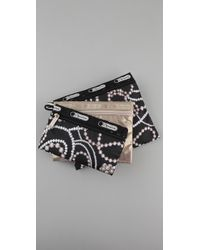 LeSportsac | Black Charleston Triple Pouch Set | Lyst