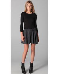 LNA | Swing Dress in Grey/black | Lyst