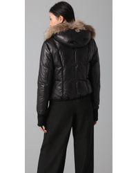 Mackage | Black Annie Glam Leather Down Jacket | Lyst