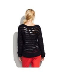 Madewell | Black Wool and The Gang™ Hole in One Sweater | Lyst