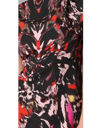 MILLY - Multicolor Fiona Warp Print Cocktail Dress - Lyst