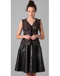 Nanette Lepore   Black Rich Bouquet Lace Top   Lyst