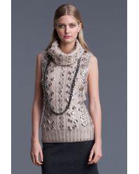 Oscar de la Renta | Natural Turtleneck Sweater | Lyst