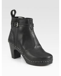 Swedish Hasbeens - Black Jodhpur Leather Ankle Boots - Lyst