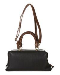 TOPSHOP | Black Contrast Trim Doctor Bag | Lyst