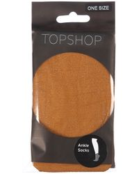 TOPSHOP | Metallic Gold Lurex Ankle Socks | Lyst