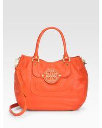 Tory Burch | Orange Amanda Hobo Bag | Lyst