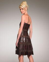 Valentino   Black Leather & Lace Dress   Lyst