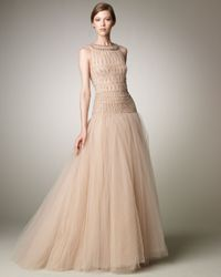 Valentino   Natural Tulle Illusion Ball Gown   Lyst