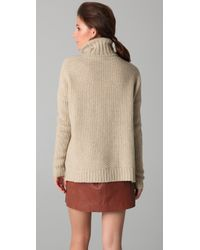 Vince - Natural Honeycomb Turtleneck Sweater - Lyst