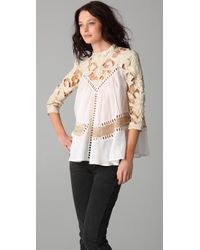 Zimmermann - Natural Calm Paneled Smock Top - Lyst
