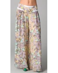 Zimmermann | Multicolor Halcyon Gathered Pants | Lyst