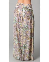 Zimmermann | Multicolor Halcyon Gathered Pants | Lyst