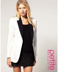 ASOS Collection | White Asos Petite Exclusive Tuxedo Blazer | Lyst
