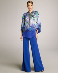 Etro | Royal Blue Wide Leg Pants | Lyst