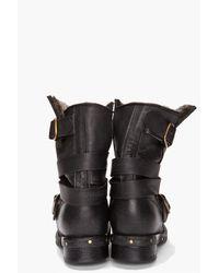 Jeffrey Campbell | Black Brit Fur Boots | Lyst