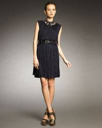 Lanvin | Blue Fringe Dress | Lyst