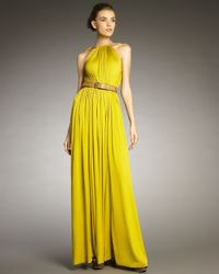 Lanvin | Yellow Rope-shoulder Gown | Lyst