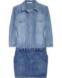 Maje | Blue Enquete Two-tone Denim Shirt Dress | Lyst
