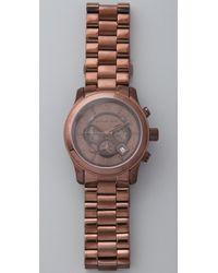 Michael Kors - Oversized Runway Watch, Brown - Lyst