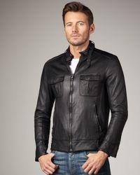 Rag & Bone | Black Hoxton Leather Jacket for Men | Lyst